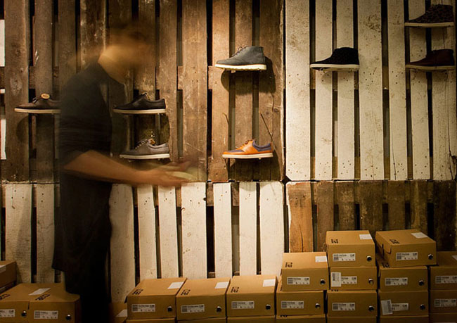 Wnętrze sklepu Clae Pop-Up. Projekt: mode:lina architekci