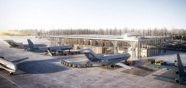 Terminal Portu Lotniczego w Szymanach. Projekt: Ostrowscy Architekci