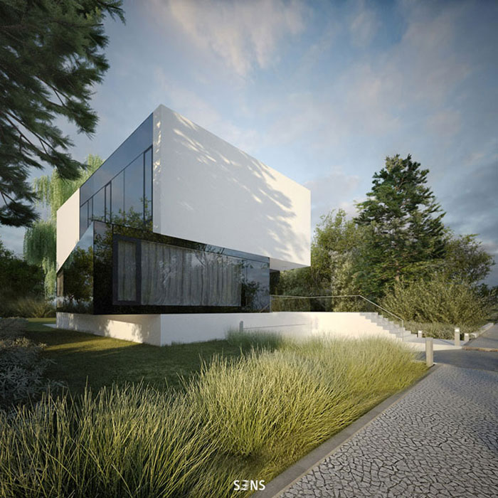 3 Poziomy Domu. Projekt: S3NS Architektura