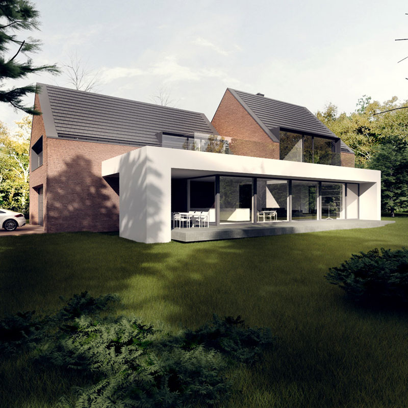 Dom ki house we wroc awiu tamizo architects mateusz for Industrial modern homes for sale