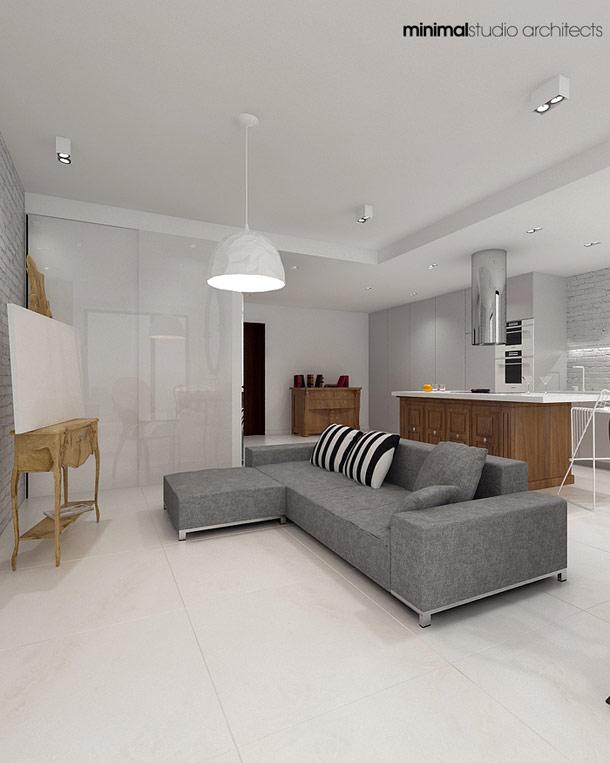 Aranżacja wnętrza mieszkania na warszawskim Powiślu - Minimalstudio Architects