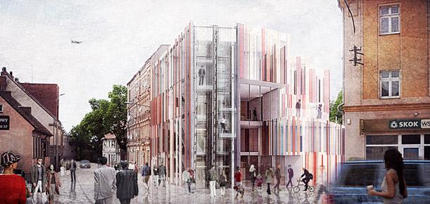 Centrum Biblioteczno-Kulturalne Psie Pole we Wrocławiu. Projekt: BXB Studio Bogusław Barnaś