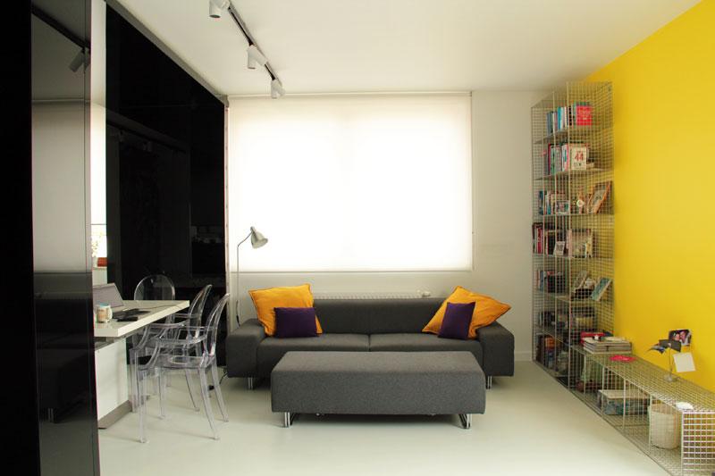 Aranżacja wnętrza apartamentu w Warszawie. Projekt: DNA Works