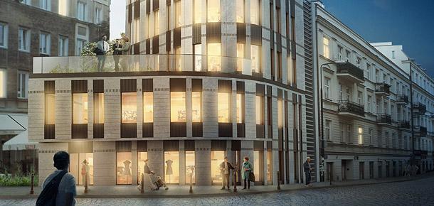 Biurowiec przy ulicy Kopernika w Warszawie. Projekt: Grupa 5 Architekci