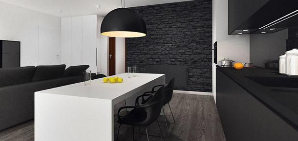 Aranżacja wnętrza mieszkania przy Alei Wyścigowej. Projekt: Minimalstudio Architects