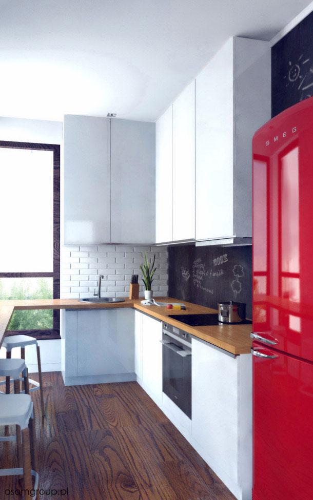 Aranżacja wnętrza mieszkania. Projekt: OSOM Group