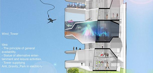 Projekt dyplomowy Anti Gravity Park