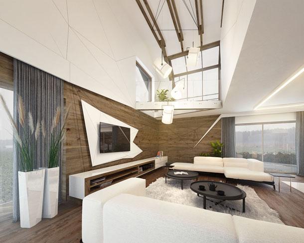 Aranżacja wnętrz domu w Kościelcu. Projekt: Reform Architekt
