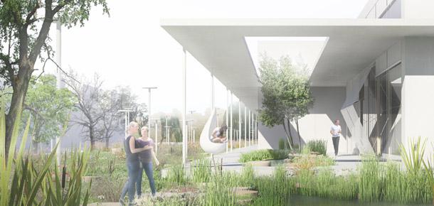 Centrum Kultury i Aktywności Lokalnej Nowe Żerniki. Projekt: Pracownia Architektoniczna WXCA