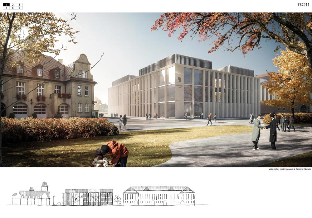 Sąd Rejonowy w Nysie. Projekt: Brzozowski Grabowiecki Architekci