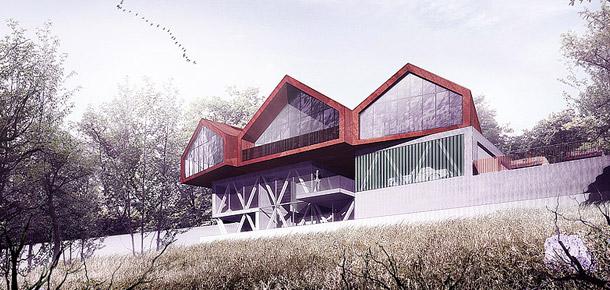 Dom Zagrodowy. Projekt: BXB Studio Bogusław Barnaś