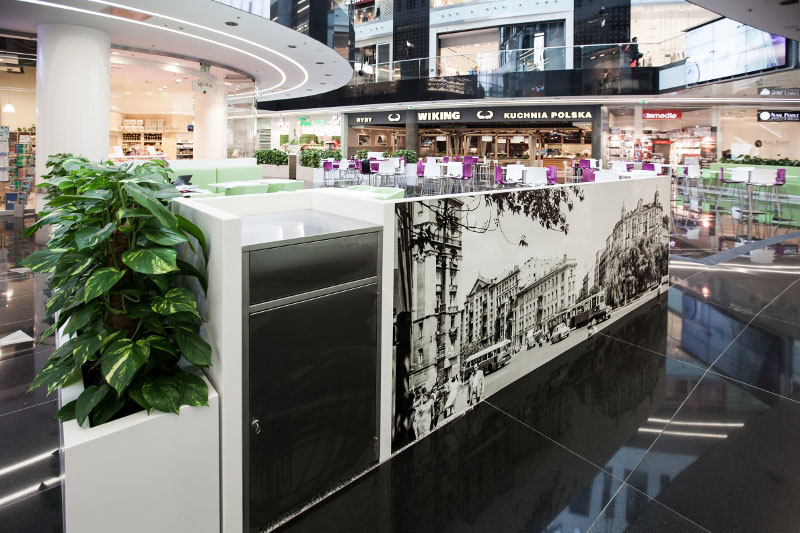 Food Court w Centrum Handlowym Plac Unii. Projekt: Forbis Group