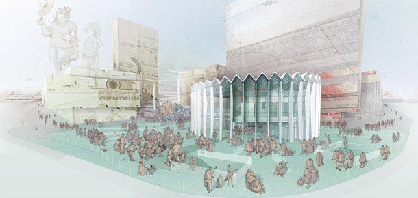 Changing The Face 2013 Rotunda Warsaw. Projekt: Grupa 5 Architekci
