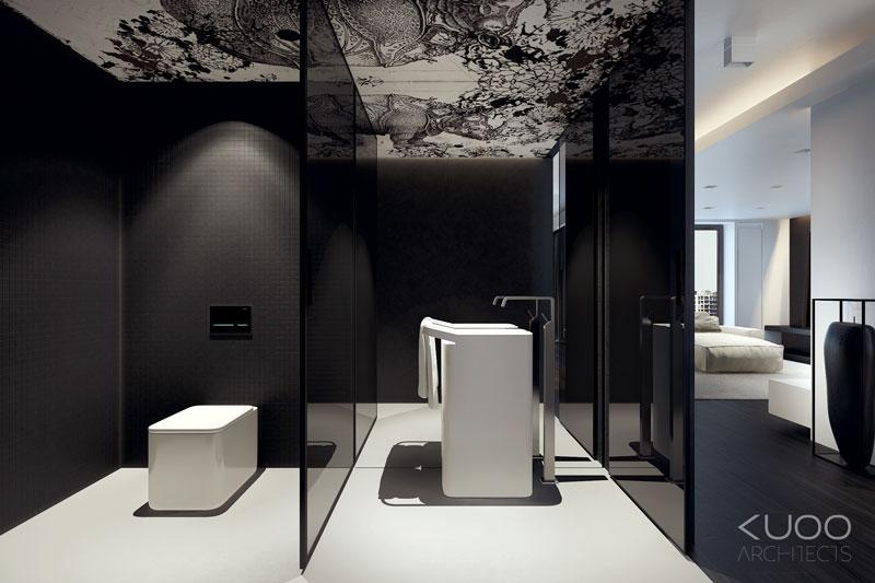 Wnętrza apartamentu w Bielsko-Białej. Projekt: KUOO Architects