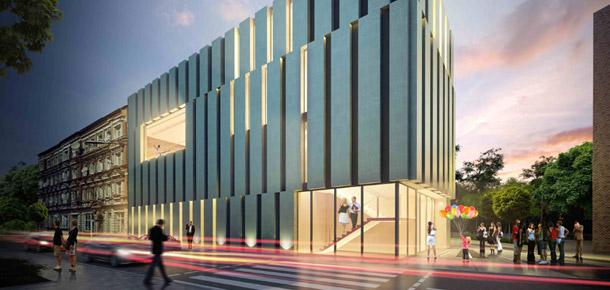 Centrum Biblioteczno-Kulturalne we Wrocławiu. Projekt: m2m design Marcin Mańkowski