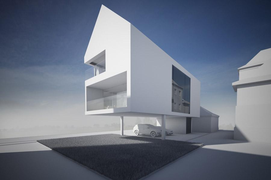 Dom jednorodzinny. Projekt: Modero Architekci