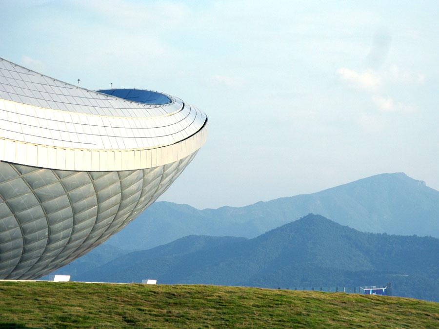 Pawilon Kulturalny w Daegu. Projekt: Asymptote Architecture