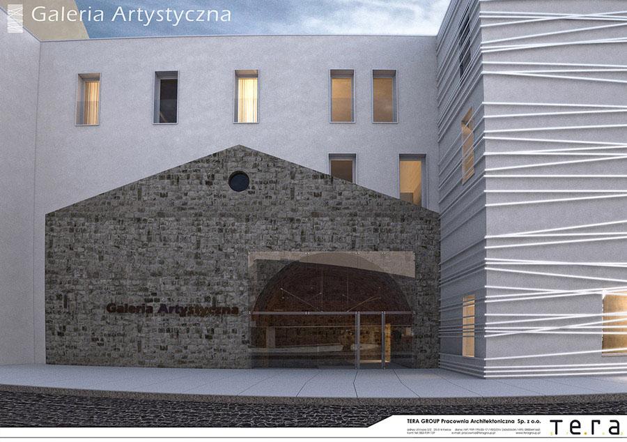 Galeria Artystyczna Kielce. Projekt: Tera Group