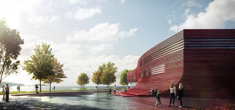 Centrum Kulturalne i Biblioteka w Karlshamn. Projekt: 3XN Architects
