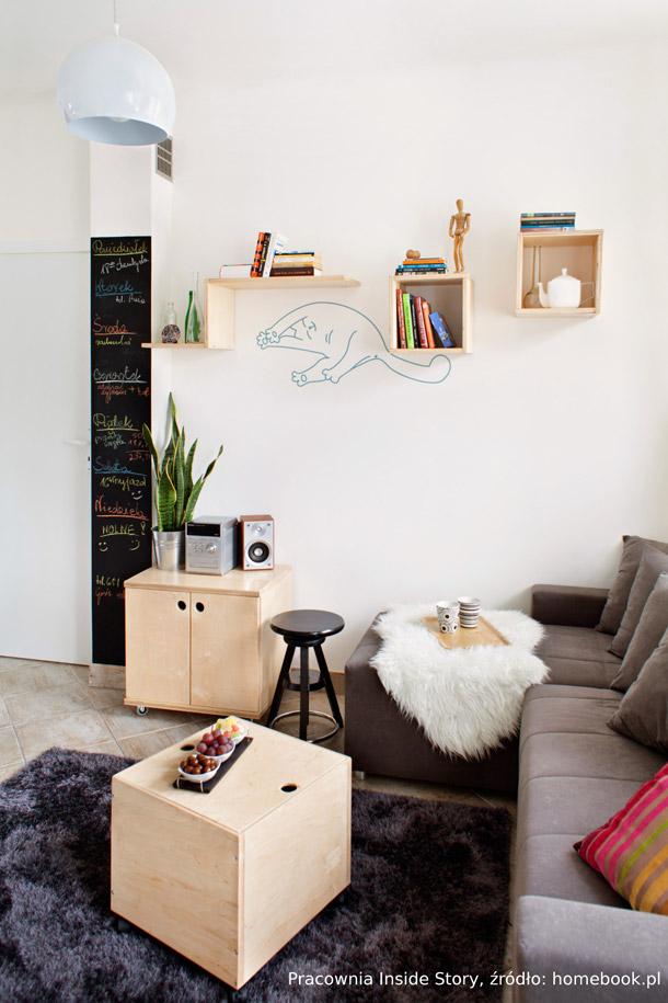 Mieszkanie dla singla - pomysły na kawalerkę. Żródło: Homebook.pl