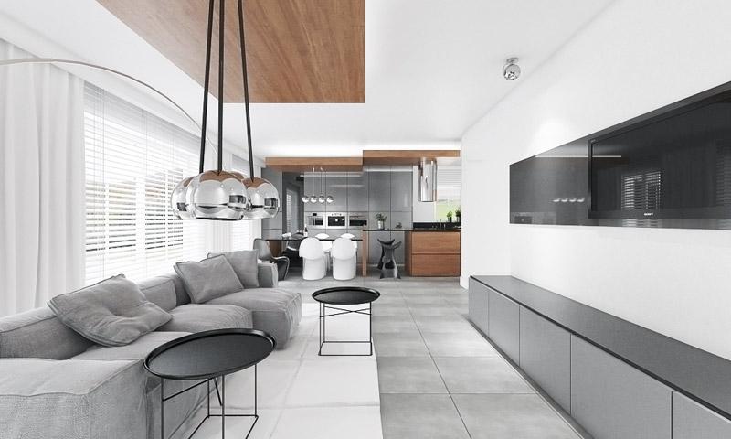 Wnętrze domu jednorodzinnego BM House. Projekt: MyMolo Architects