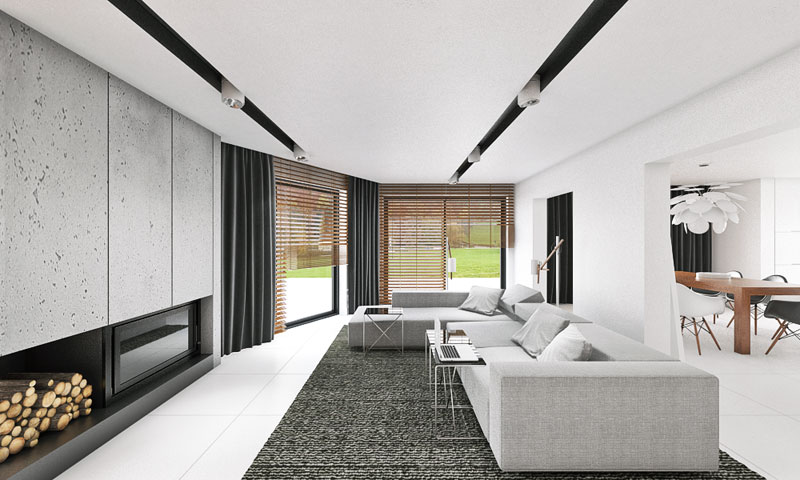 Wnętrze Domu Jednorodzinnego Ip House Mymolo Architects