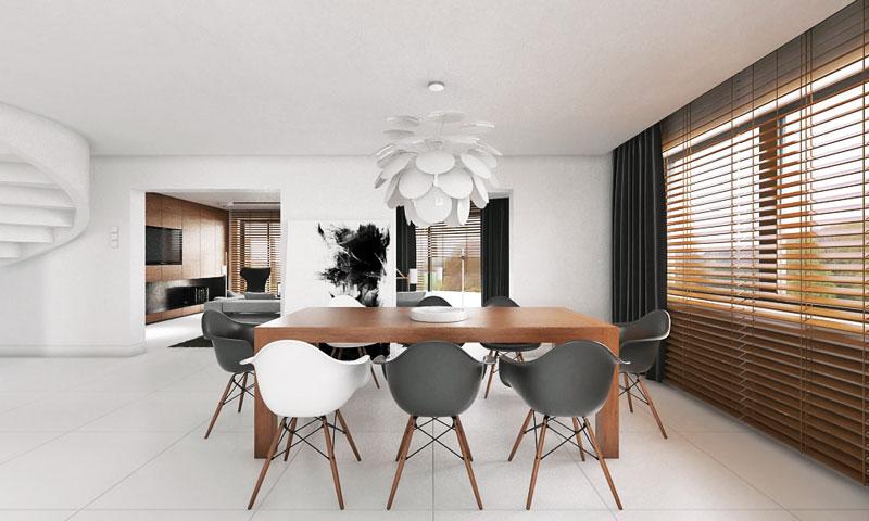 Wnętrze domu jednorodzinnego IP House. Projekt: MyMolo Architects
