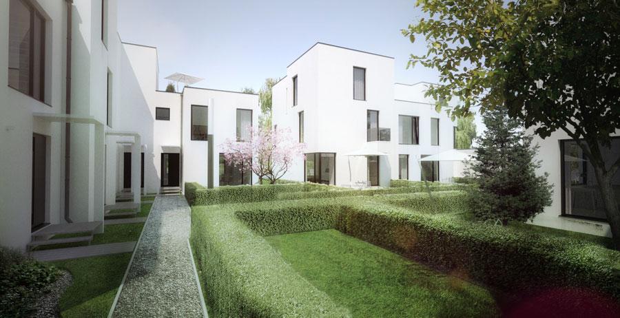 Osiedle domów jednorodzinnych pod Warszawą. Autorzy: Oneline Pracownia Projektowa