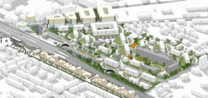 Zagospodarowanie terenów w Stargardzie Szczecińskim. Autorzy: Projektor Architekci + S.LAB architektura