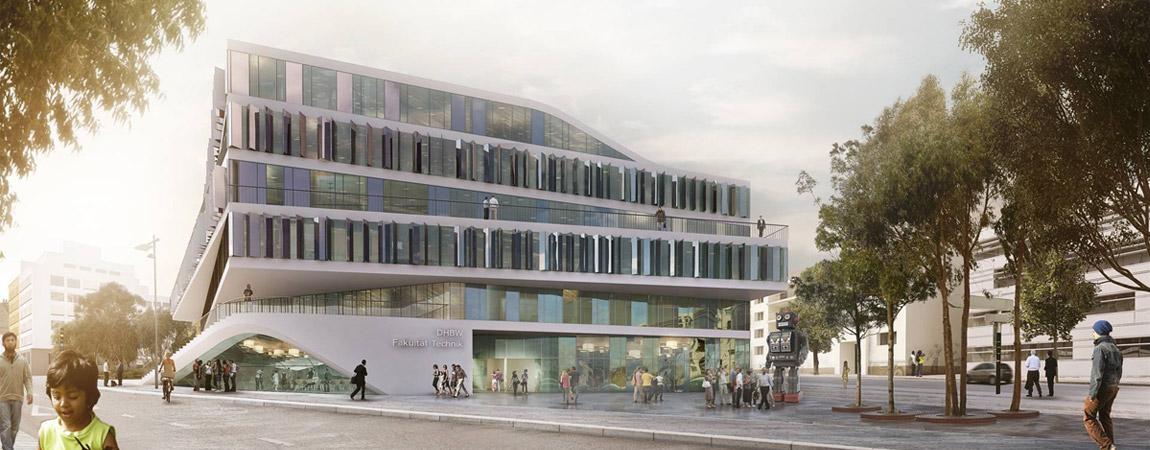 Budynek Uniwersytecki w Stuttgarcie. Projekt: 3XN Architects