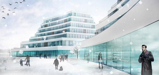 Zespół zabudowy wielofunkcyjnej w Kielcach. Projekt: Jagiełło Krysiak Architekci