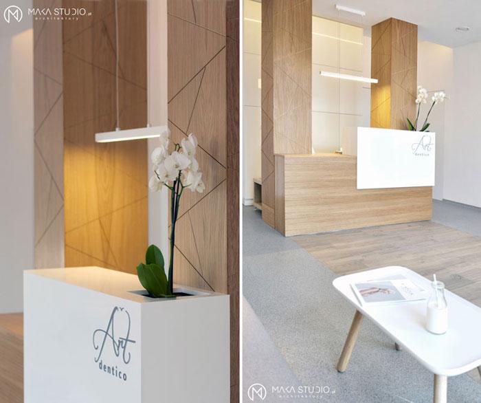 Wnętrza Gabinetu ArtDentico. Projekt: MAKA Studio