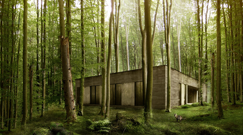 Dom w lesie. Projekt: 081 Architekci