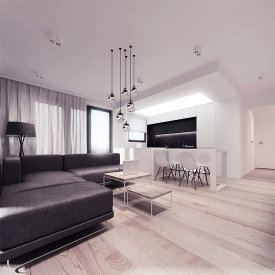 Nowoczesne mieszkanie w Lublinie. Projekt: 081 Architekci