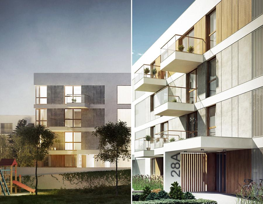 Budynek mieszkalny w Lublinie. Autorzy: Pracownia Projektowa Bień Architekci
