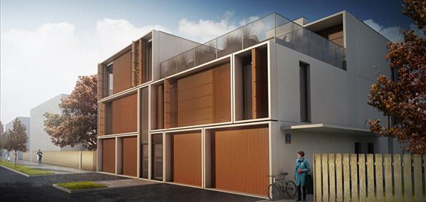 Budynki mieszkalne przy ul. Lirowej w Warszawie. Projekt: Grupa 5 Architekci