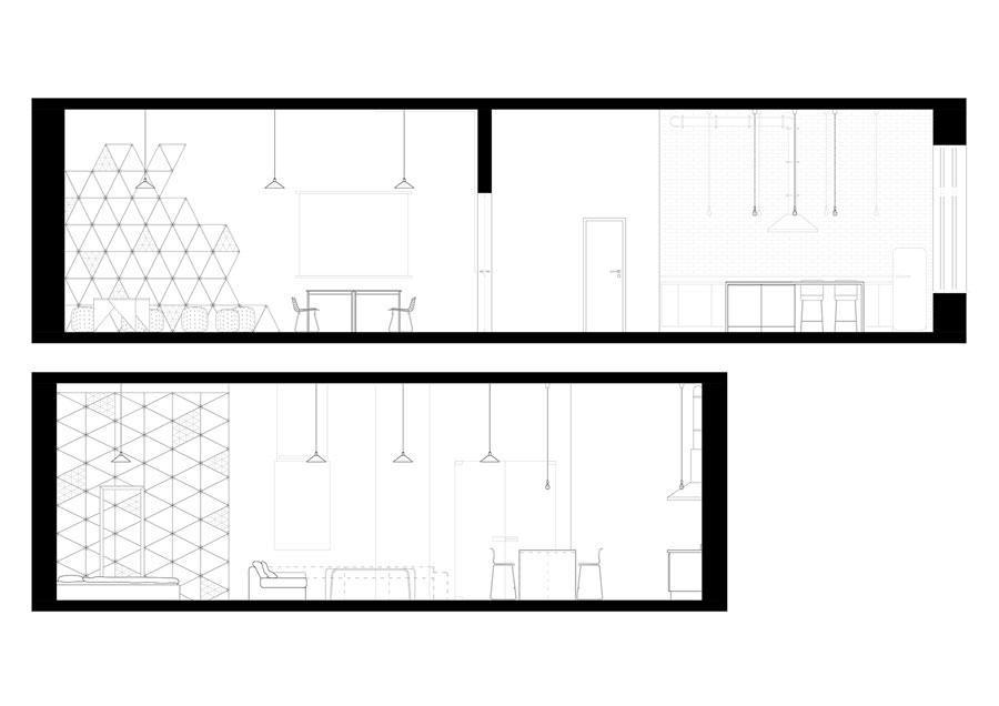 Apartament z salą konferencyjną w Warszawie. Projekt: Maciej Kurkowski, Maciej Sutuła