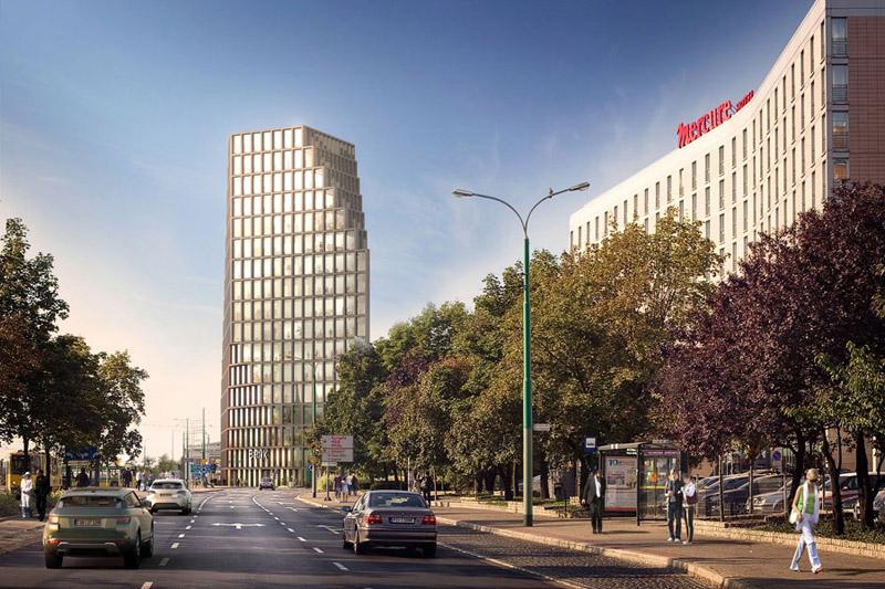Biurowiec Bałtyk w Poznaniu. Projekt: MVRDV