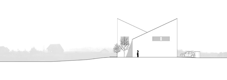 Dom w Skrzynkach. Projekt: Piotr Kluj Pracownia Projektowa