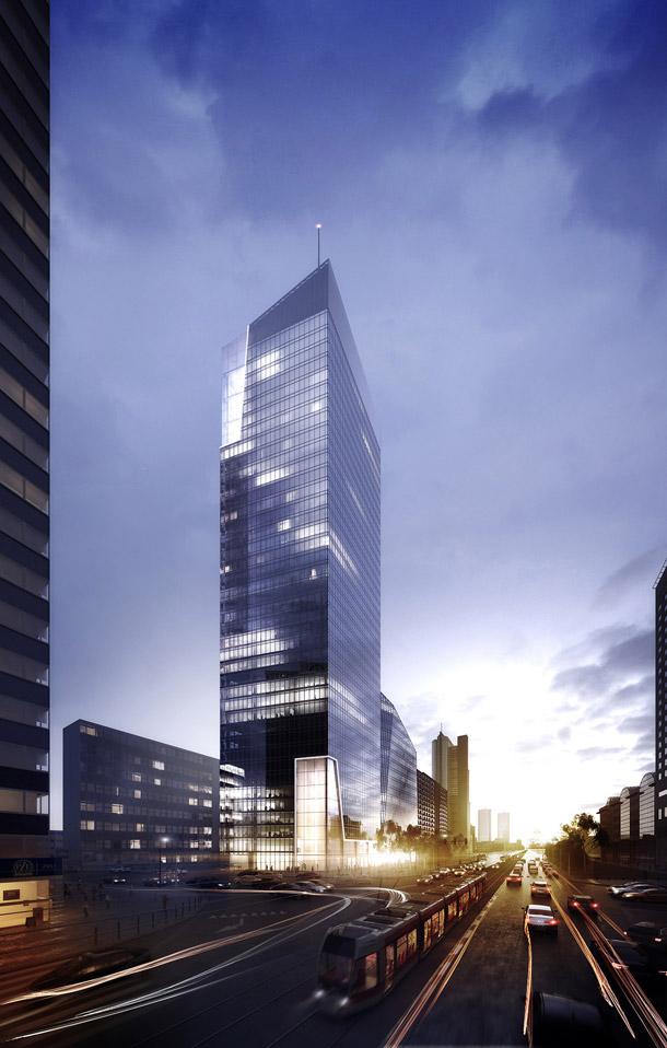 Budynek biurowy Q22 w Warszawie. Projekt: Kuryłowicz & Associates