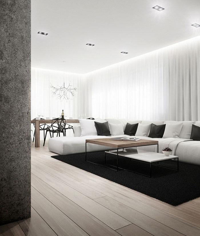 Wnętrze apartamentu 'Vincent Cat' w Warszawie. Projekt: Cutout Architects