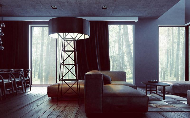 Wnętrze domu w Umiastowie. Projekt: OSOM Group