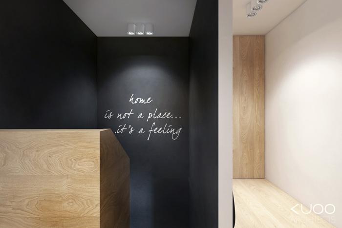 Aranżacja wnętrz w domu szeregowym. Projekt: KUOO Architects