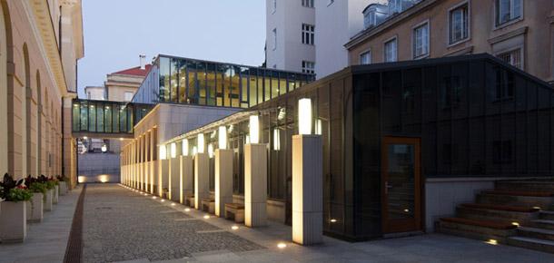 Biblioteka Instytutu Historycznego. Projekt: Pracownia Architektoniczna BNS. Zdjęcia: Piotr Krajewski
