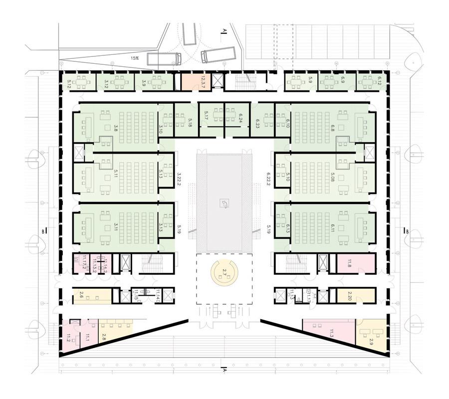 Sąd Rejonowy w Katowicach. Wyróżnienie w konkursie: Pracownia Architektoniczna WXCA