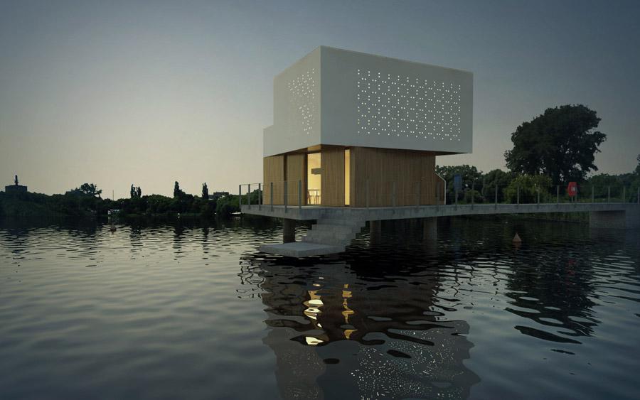 Dom na Wodzie. Projekt: 90 Stopni Architekci