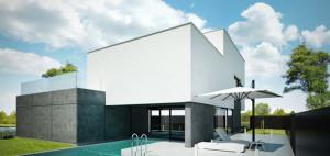 Dom z płaskim dachem – 90 Stopni Architekci