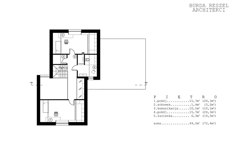 Dom pod miastem. Projekt: Burda Reszel Architekci