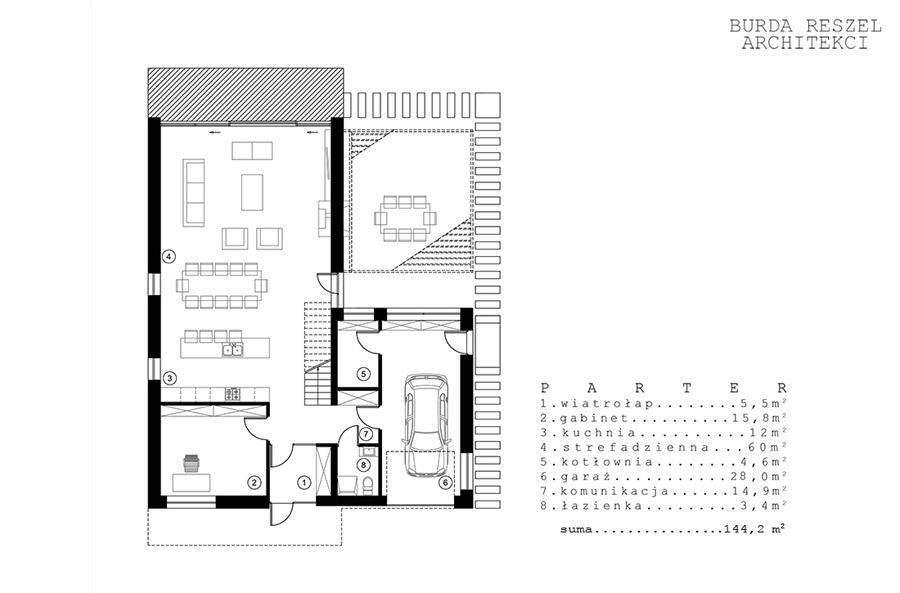 Willa Podmiejska. Projekt: Burda Reszel Architekci
