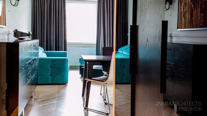 Apartament we Wrocławiu. Projekt: Jabra Architects